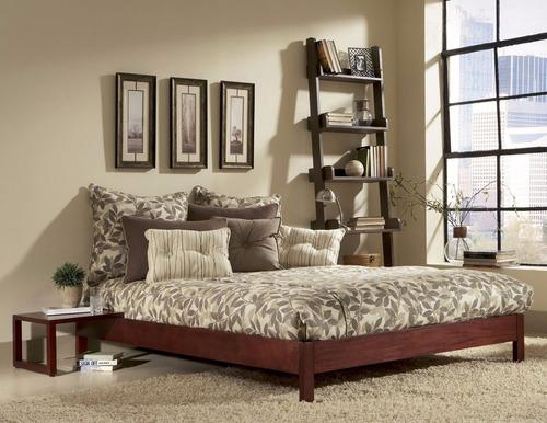 base cama lisboa madera sólida pino queen size - madera viva