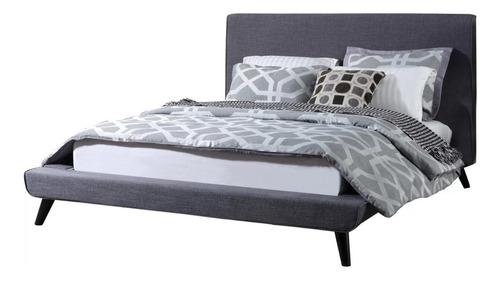 base cama madera california king size tapizada - madera viva