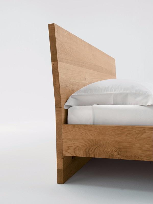 Base cama matrimonial madera solida cabecera madera viva for Como hacer una base para cama individual