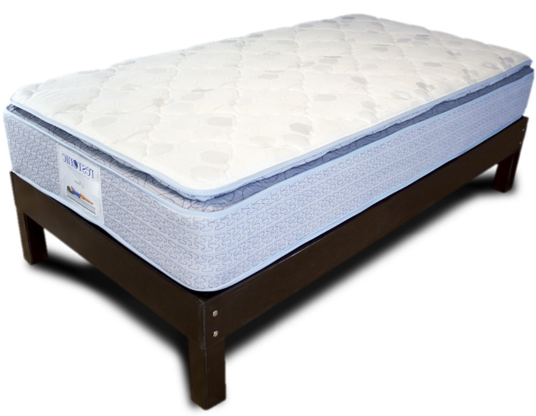 Base cama matrimonial de madera con colch n tienda for Medidas de base de cama matrimonial