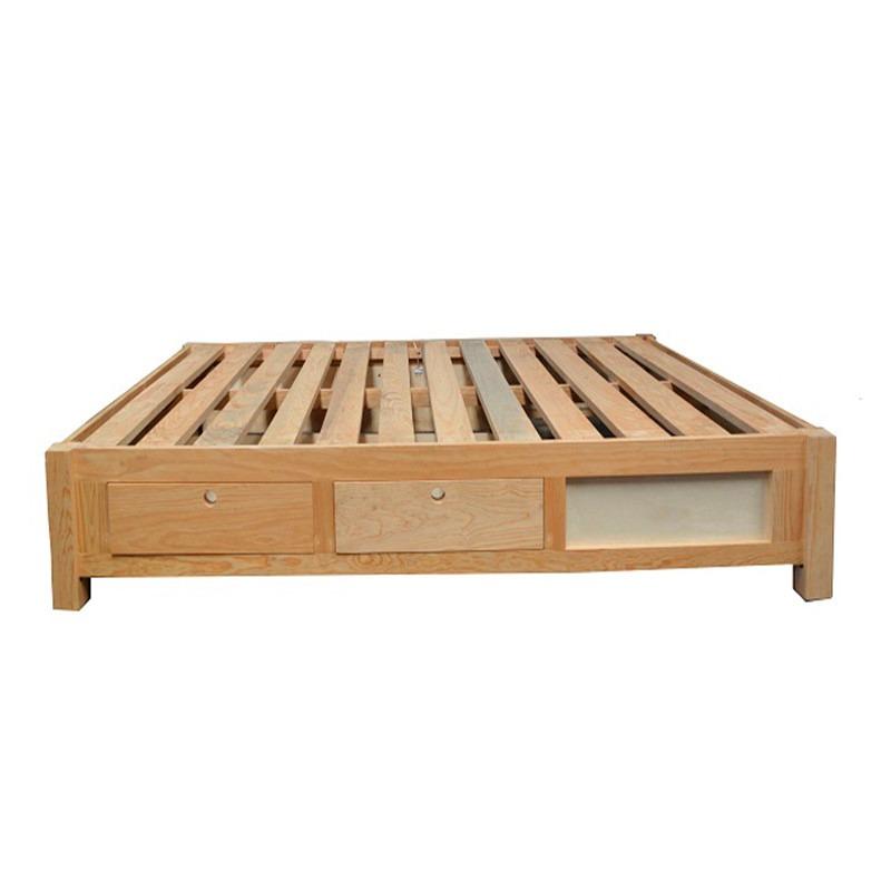 Cama de madera con cajones cargando zoom camas con for Camas con cajones debajo