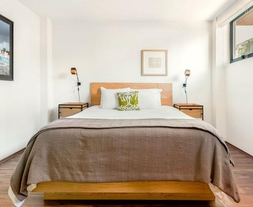 base cama matrimonial madera solida cabecera - madera viva
