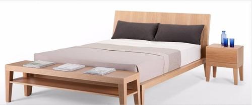 base cama matrimonial madera tropical cabecera - madera viva