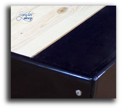 Queen size base cama tipo box para recamara cama en madera for Tamanos de camas en mexico