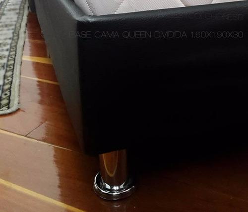 base cama queen dividida 160x190x30 envío incluido en bogotá