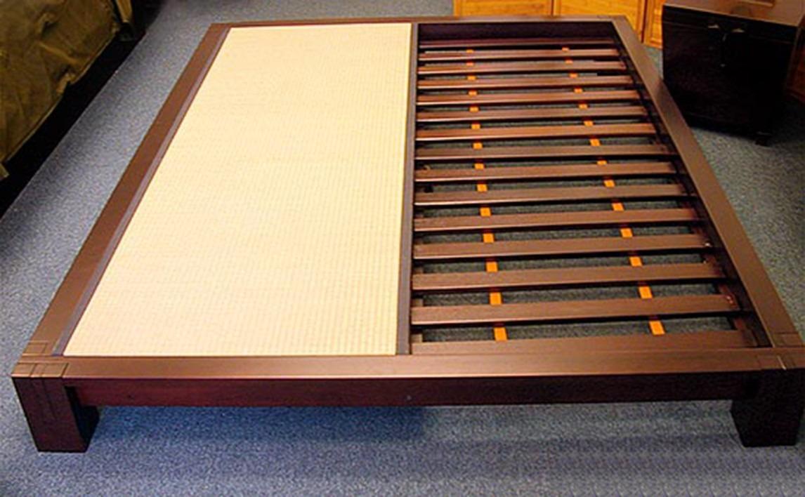 Base cama queen japonesa tatame madeira nobre r - Tatami cama japonesa ...