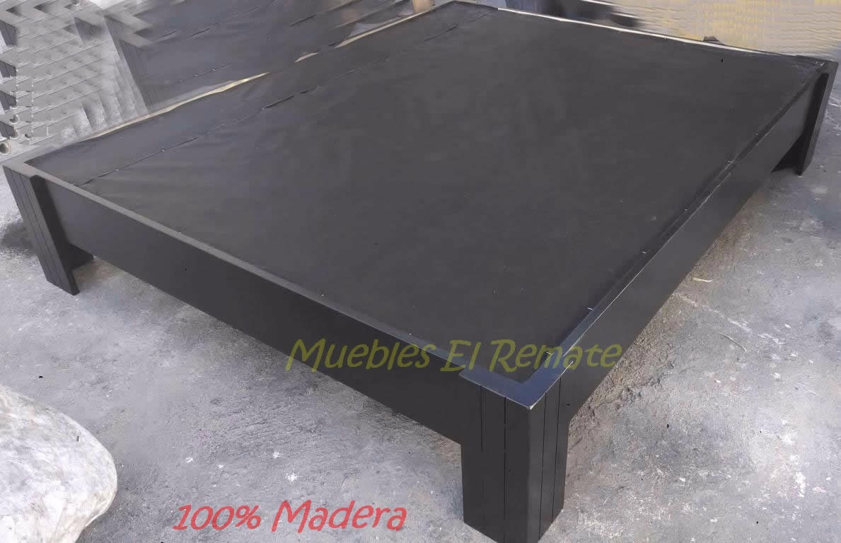 Base Cama Queen Size Cinthia Chocolate 100 Madera En Mty  # Muebles Cinthia