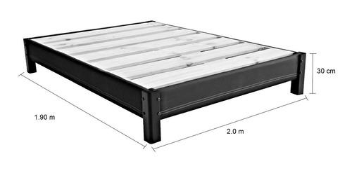 base cama queen size tapizada  + colchón enrollable