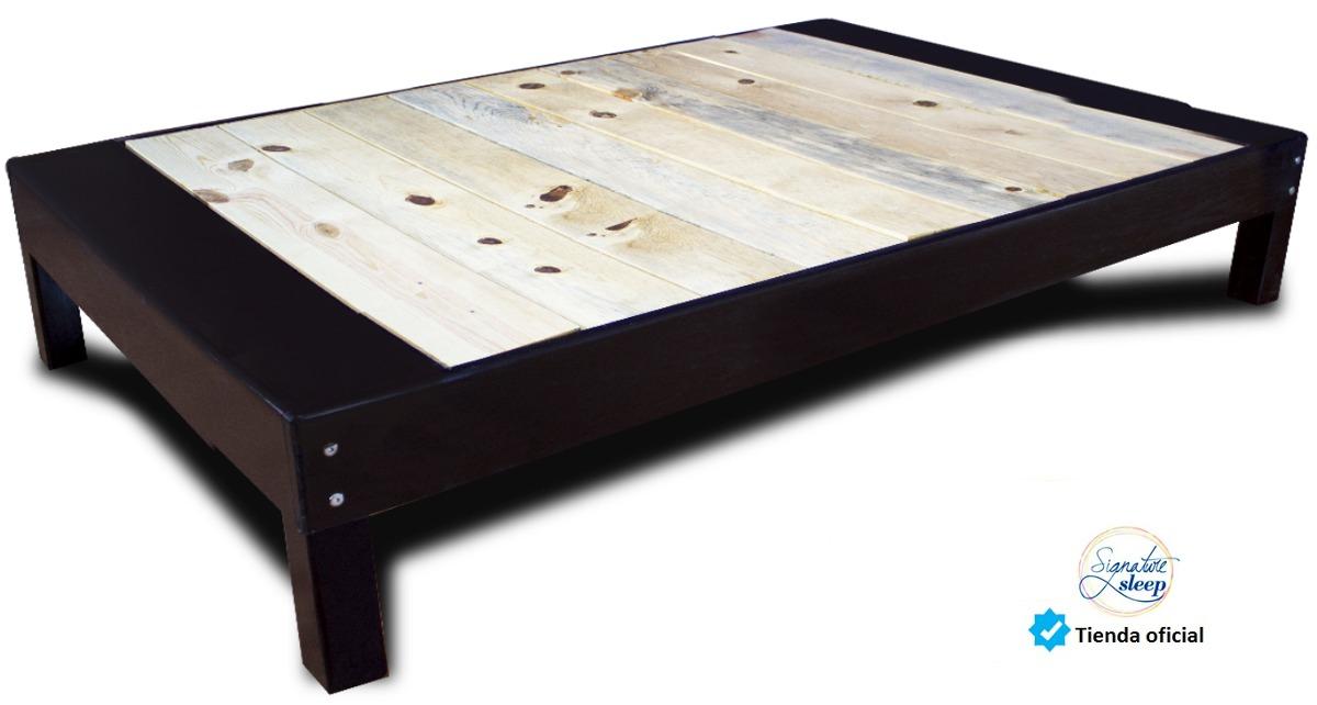 Base cama tipo box para recamara o cama individual en for Como hacer una base de cama