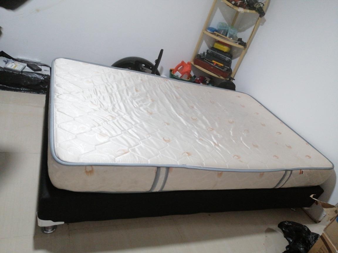 base cama y colchon romance 1.20 x 1.90