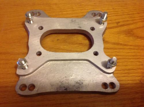 basé carburador 4 a 2 gargantas universal metálica nueva