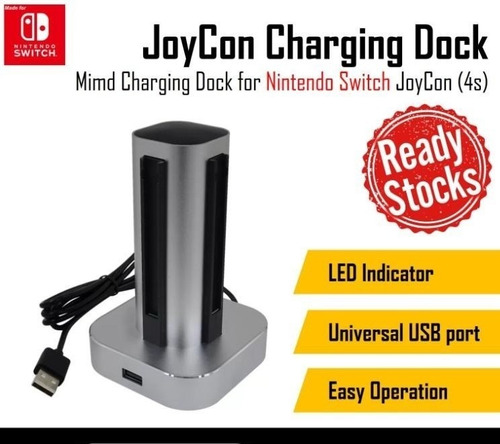 base carga 4 joystick nintendo switch display titan belgrano