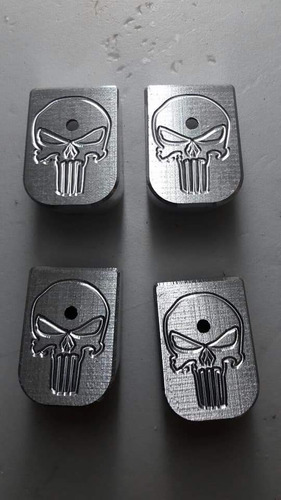 base cargador punisher gris glock +2 (9mm)