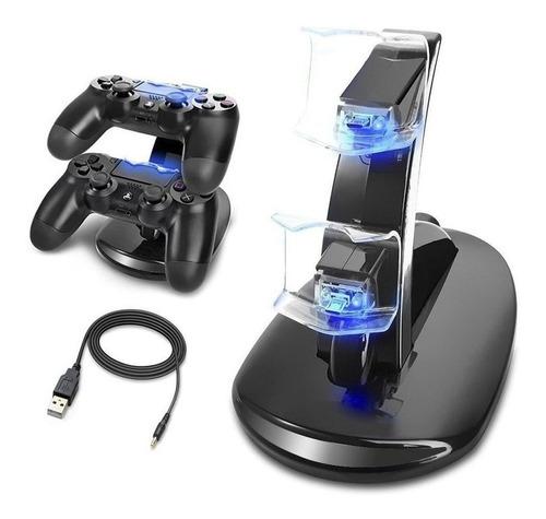 base cargadora doble para joystick ps4 led playstation