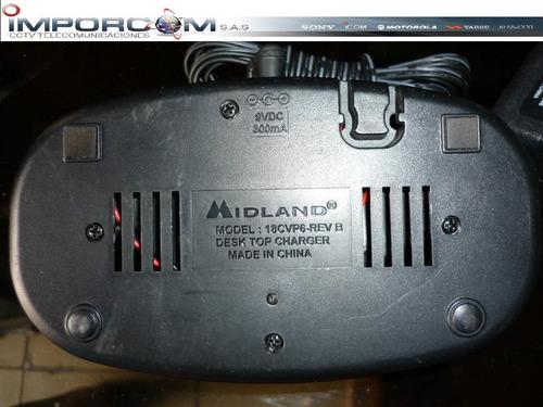 base cargadora para radios midland completa