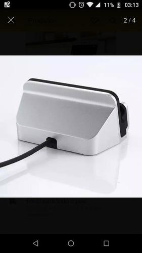 base carregador para iphone / android