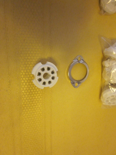 base ceramica chassis 8 pin tubo el34, kt88, 6l6, 6550, 5881