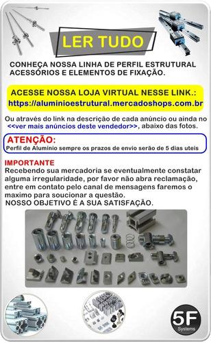 base cnc perfil de alumínio estrutural 20mm x 120mm x 600mm