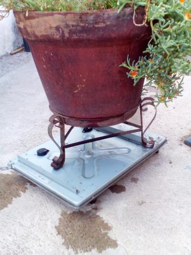 base con ruedas para macetas jardineria plantas patios