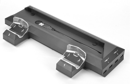 base consola + cargador doble + hub para sony ps4 - dynacom
