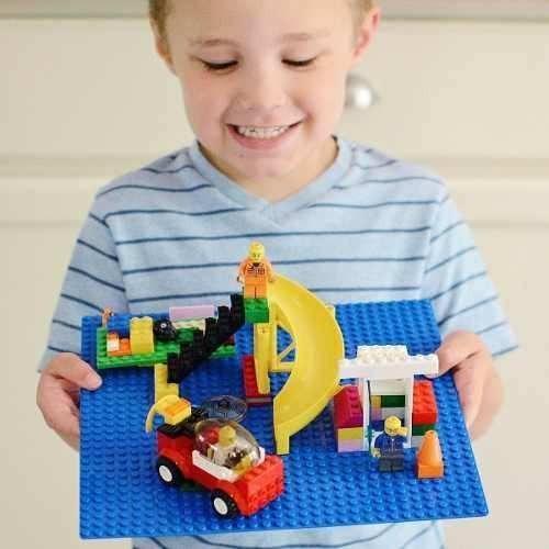 base construccion para armatodo compatible lego set x 4