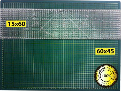 base corte a2 60x45cm regua laser 15x60 patchwork scrapbook.