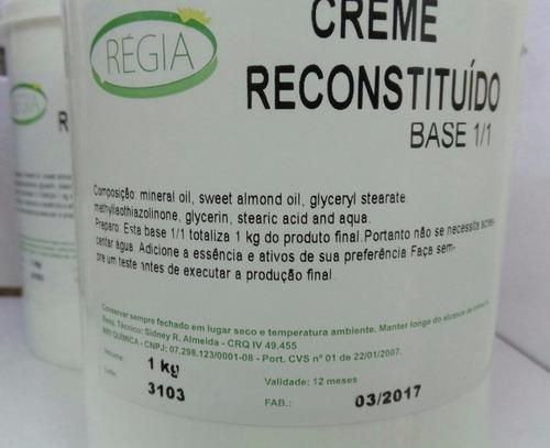base creme hidratante reconstituído 1/1 pronto para uso