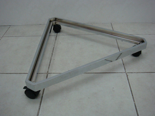 base cromada ideal para macetas muebles otros uso con ruedas
