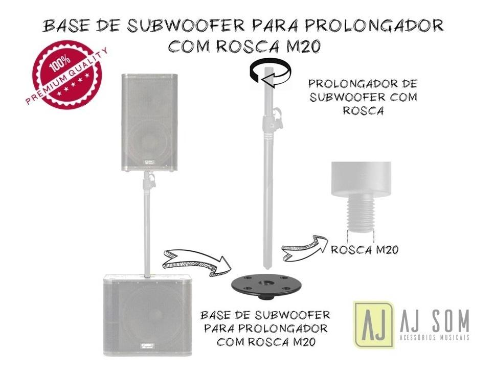 Base C/rosca M20 P/caixa De Subwoofer Qsc Kw181,jbl,rcf