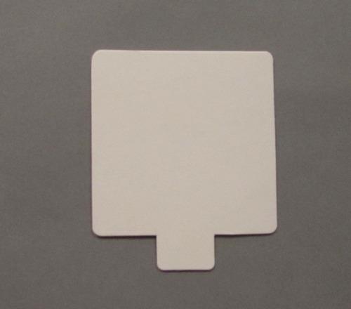 base cuad plast ppm blanco mate 8x8 c/ pestaña (x200u) - 151