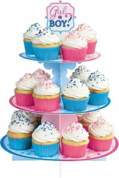 Base Cupcakes Fiesta Revelacion Genero Bebé Decoración