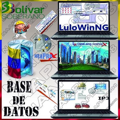 base-datos maprex, lulong, ip3, lulo abril 2019 bs. s *