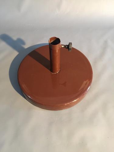 base de 22 kg recubierta en chapa