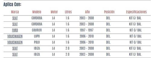 base de amortiguador del seat cordoba l4 1.6 2003 - 2008 vzl