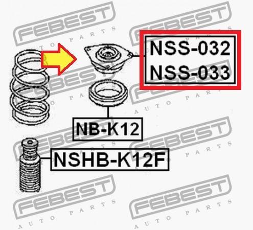 base de amortiguador delantera  nissan tiida c11