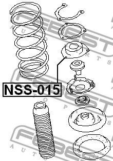 base de amortiguador delantera nissan xtrail t30 murano z50