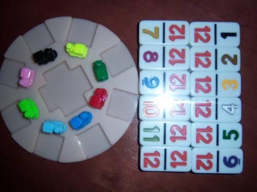 base de arranque y 10 trenes para domino cubano