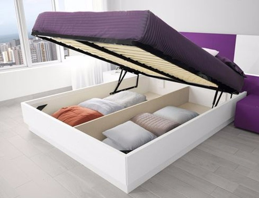 Base de cama abatible king size elevable completa for Colchon mas grande que king size