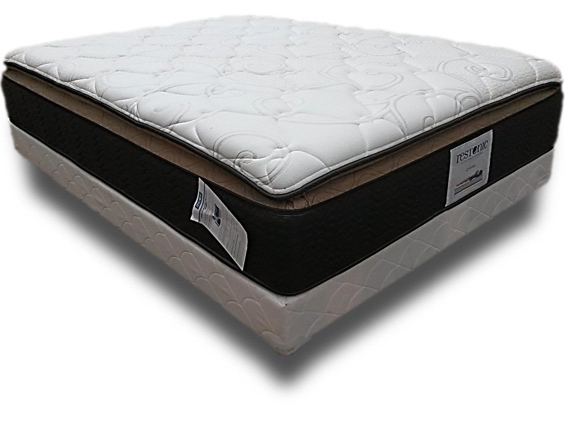 Base de cama con colch n queen size tienda oficial for Base para colchon king size