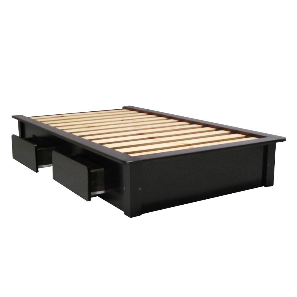 Base de cama individual con cajones armable y desarmable - Bases de camas de madera ...