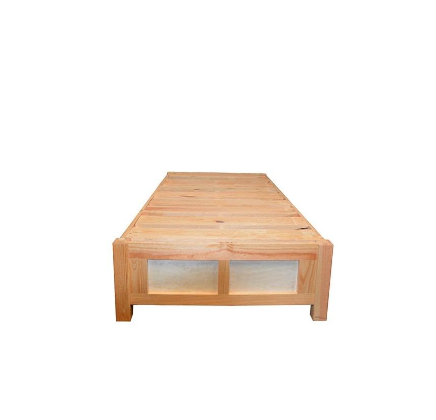 Base de cama individual con cajones y zapatera minimalista for Cama individual base y colchon