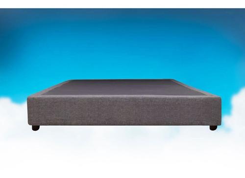 base de cama individual de madera (tela lino gris) queretaro