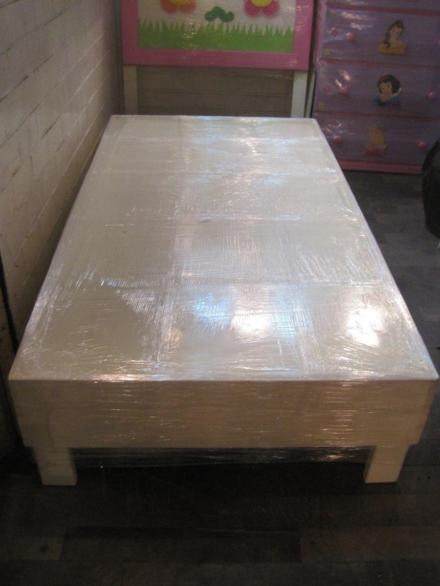Base de cama individual madera lagunilla 2 en for Base para cama individual precios
