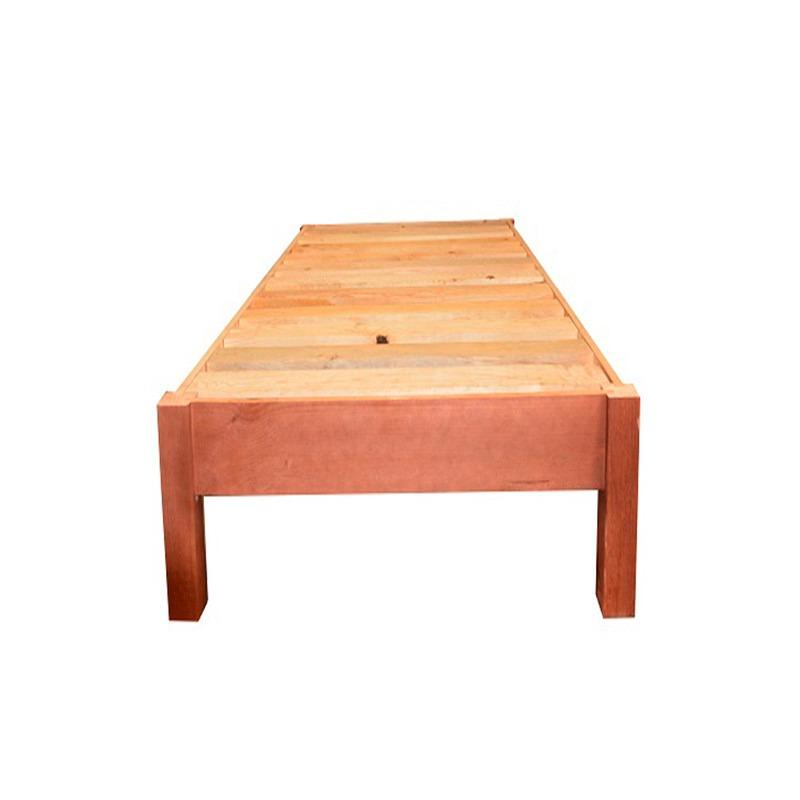 Base de cama individual minimalista modernista madera for Base para cama queen size minimalista