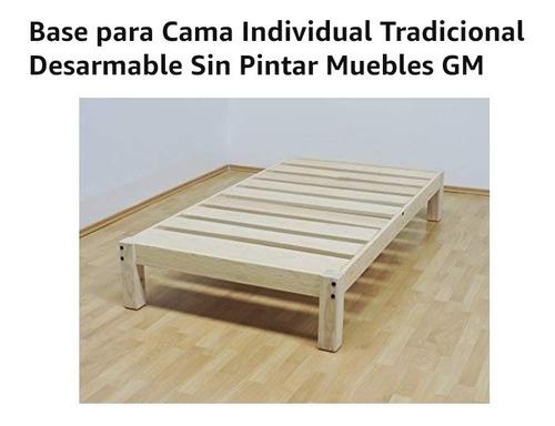 base de cama individual. nueva.