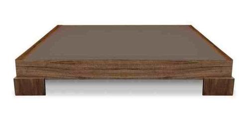 base de cama najja nogal-individual - inlab muebles