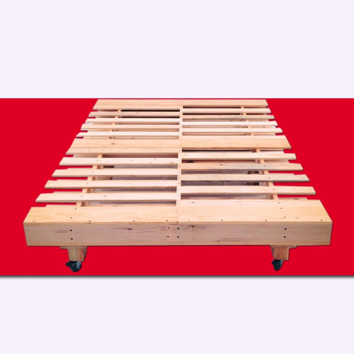 Base de cama queen size madera tarima sustentable for Cuanto cuesta una cama king size