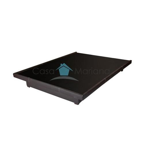 Base de cama queen size minimalista moderna madera for Base para cama queen size minimalista