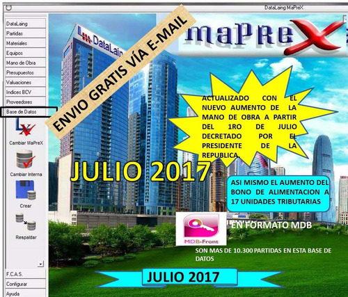 base de datos maprex julio 2017.
