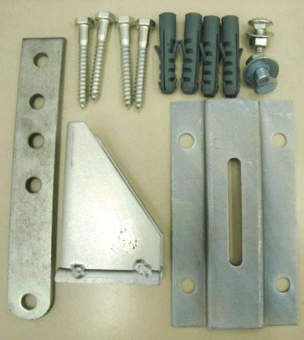 base de fixação do motor do portão automático pivotante